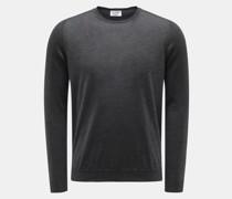 Cashmere Feinstrick-Pullover anthrazit