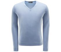 Cashmere V-Neck Pullover 'Enno' rauchblau