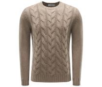 Cashmere R-Neck Pullover hellbraun