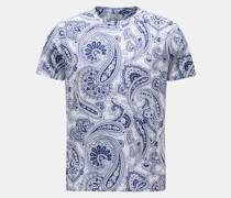 HerrenRundhals-T-Shirt navy/weiß