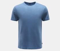 HerrenRundhals-T-Shirt rauchblau