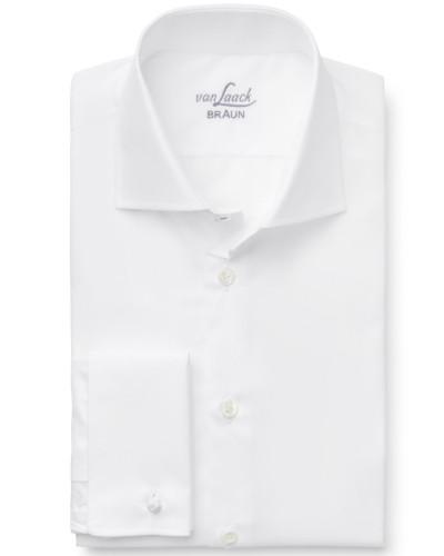 Business Hemd 'Rivara Slim Fit' Haifisch-Kragen weiß