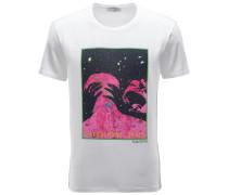 R-Neck T-Shirt weiß