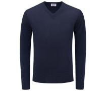Cashmere V-Neck Pullover navy