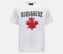 HerrenRundhals-T-Shirt weiß