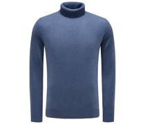 Cashmere Rollkragenpullover graublau