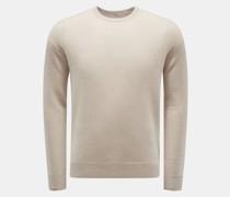HerrenCashmere Rundhals-Pullover beige