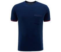 Frottee R-Neck T-Shirt 'Rodi' navy