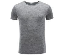 Leinen R-Neck T-Shirt 'Marlon' grau