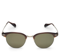 Sonnenbrille 'Executive II' dunkelbraun/oliv