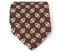 Krawatte braun gemustert