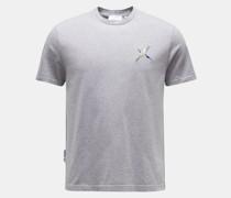 HerrenRundhals-T-Shirt 'Single Bee Eater' grau