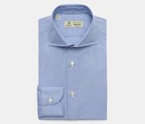Business Hemd 'Nando' Haifisch-Kragen rauchblau/weiß