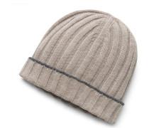 Cashmere Mütze hellbraun