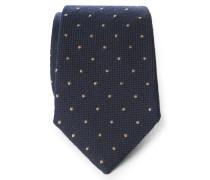 Krawatte dark navy gemustert