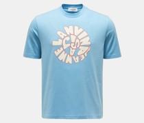 Rundhals-T-Shirt hellblau