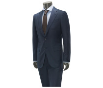Anzug 'Manhattan' dunkelblau gemustert