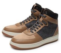 High Top Sneaker braun/dunkelgrau