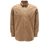 Casual Hemd 'Costes' Button-Down-Kragen hellbraun