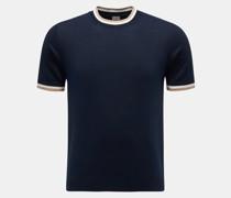 HerrenRundhals-Kurzarm-Pullover navy