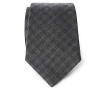 Krawatte dunkelgrau kariert