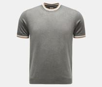 HerrenRundhals-Kurzarm-Pullover grau