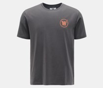 Rundhals-T-Shirt 'Ace' dunkelgrau