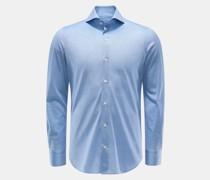 HerrenJersey-Hemd 'Sergio Toronto' Haifisch-Kragen hellblau