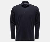 Longsleeve-Poloshirt 'Luca' navy