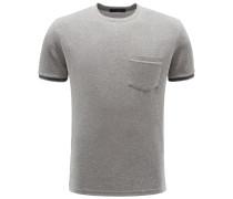 Frottee R-Neck T-Shirt 'Rodi' grau