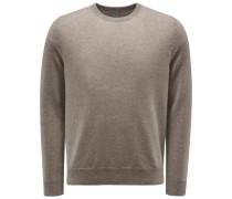 Cashmere Rundhals-Pullover graubraun