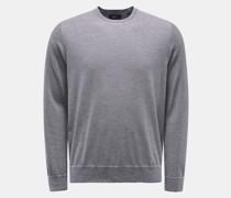 HerrenRundhals-Pullover navy/weiß