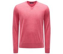 Merino V-Neck Pullover koralle