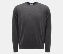 HerrenFeinstrick Rundhals-Pullover anthrazit
