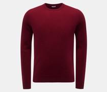 HerrenCashmere Rundhals-Pullover dunkelrot