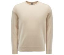 Cashmere Rundhals-Pullover beige