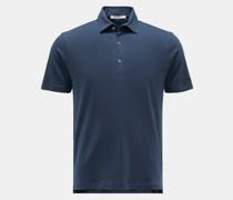 Jersey-Poloshirt 'Luis' dunkelblau