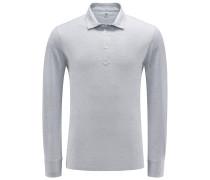 Longsleeve-Poloshirt grau