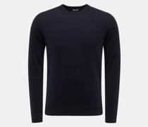 Cashmere Rundhals-Pullover dark navy