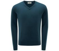 Cashmere V-Neck Pullover petrol
