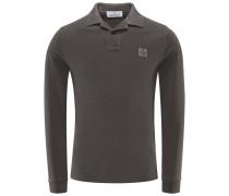 Longsleeve-Poloshirt dunkelgrau