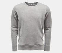 Leinen Rundhals-Sweatshirt 'Edwin' grau