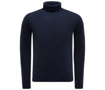 Cashmere Rollkragenpullover dunkelblau