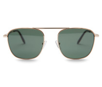 Sonnenbrille gold/dunkelgrün