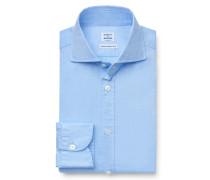 Oxfordhemd Haifisch-Kragen hellblau