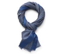 Schal graublau gemustert