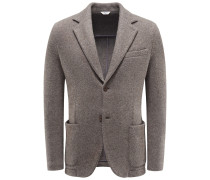 Jersey-Blazer braun/grau gemustert