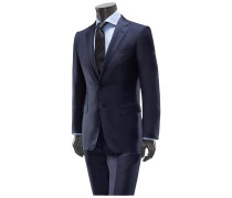 Anzug 'Trofeo Milano Regular Fit' navy gemustert