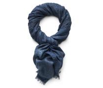 Schal dunkelblau gemustert