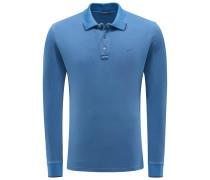 Longsleeve-Poloshirt dunkelblau
